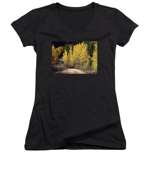 Autumn Road Women's V-Neck T-Shirt