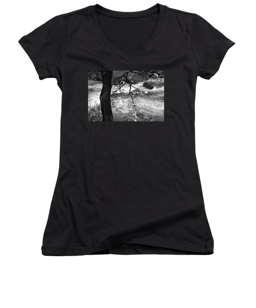 Autumn Stream Women's V-Neck (Athletic Fit)