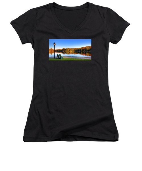 Autumn View For Two Women's V-Neck