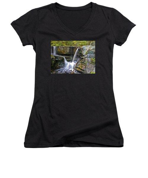 Autumn Waterfall Women's V-Neck