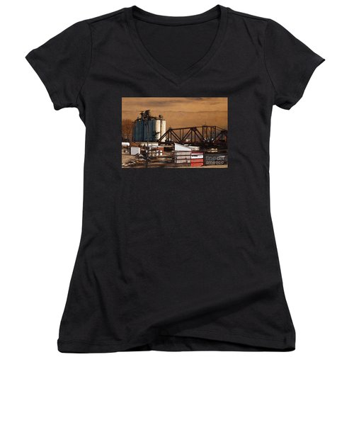 Available Women's V-Neck T-Shirt (Junior Cut) by David Blank