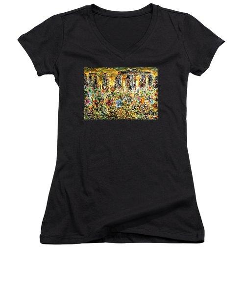Awaiting The Sun Women's V-Neck T-Shirt (Junior Cut) by Alfred Motzer
