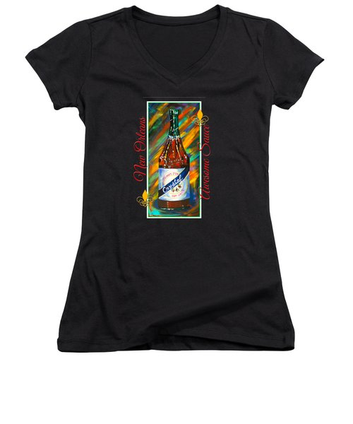 Awesome Sauce - Crystal Women's V-Neck (Athletic Fit)