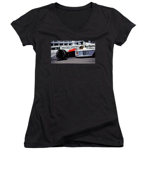Ayrton Senna - Montecarlo Women's V-Neck