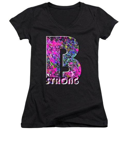 B Strong Women's V-Neck (Athletic Fit)