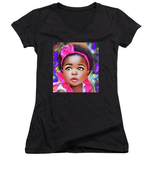 Baby Girl Women's V-Neck T-Shirt
