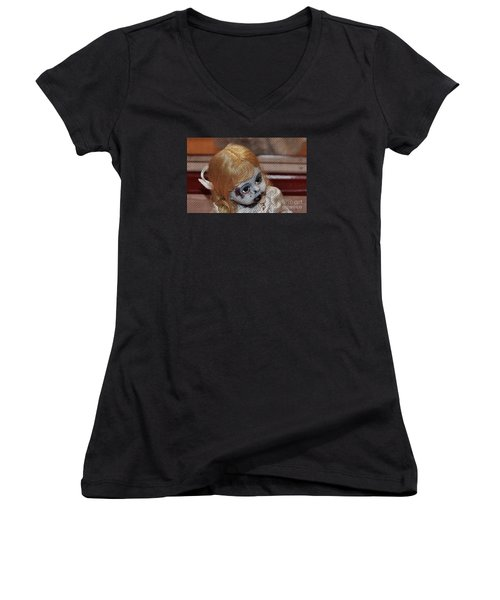 Baby Girl Two Women's V-Neck T-Shirt