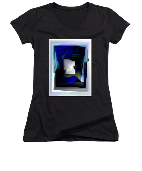 The End Of The Tunnel Women's V-Neck T-Shirt (Junior Cut) by Thibault Toussaint