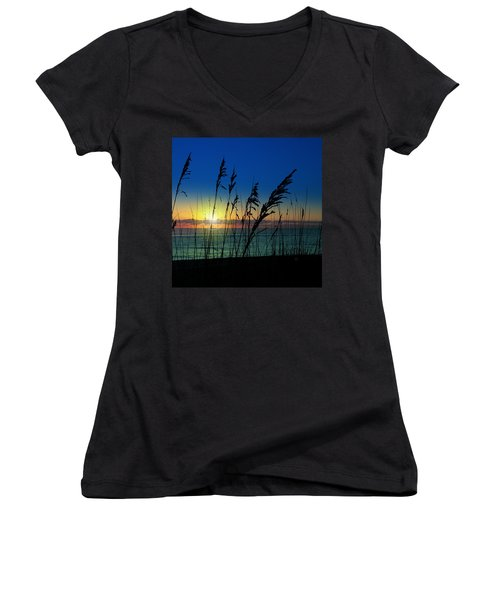 Bad Sea Oats  Women's V-Neck (Athletic Fit)