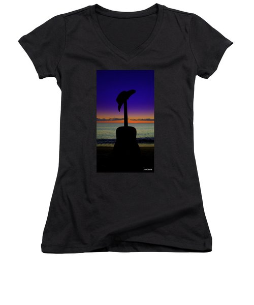 Badguitar  Women's V-Neck