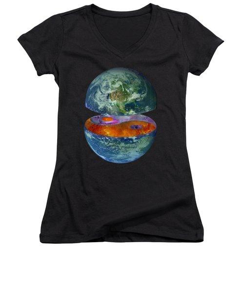 Balance T-shirt Design Women's V-Neck (Athletic Fit)