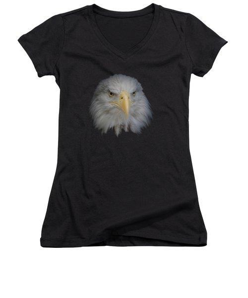 Bald Eagle 1 Women's V-Neck T-Shirt