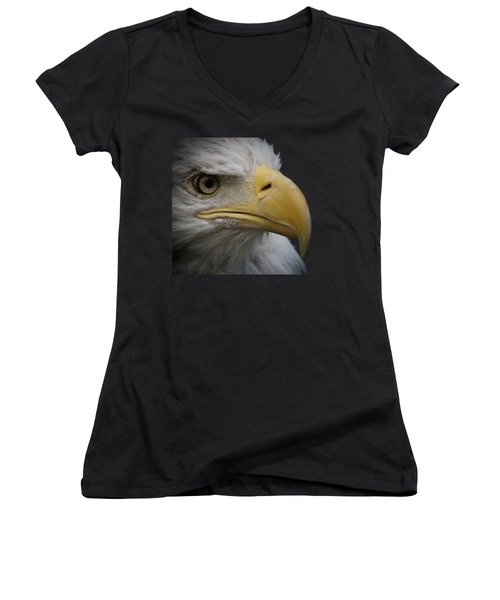Bald Eagle 3 Women's V-Neck T-Shirt