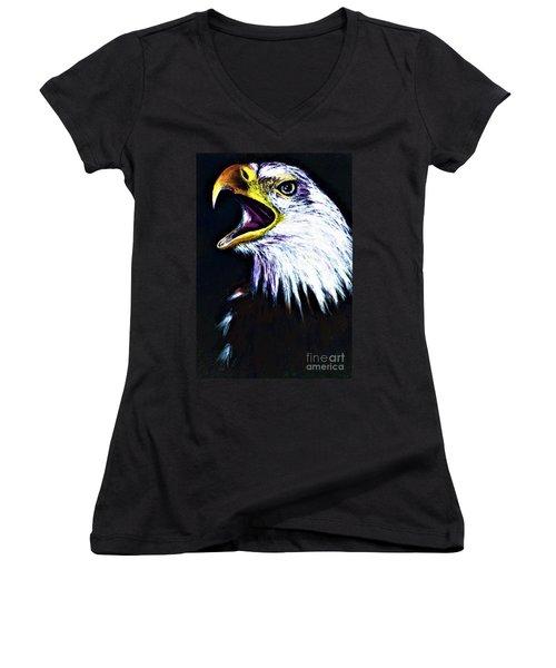Bald Eagle - Francis -audubon Women's V-Neck