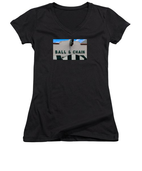 Ball And Chain Women's V-Neck