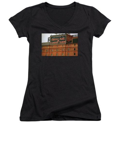 Baltimore Orioles Park At Camden Yards Women's V-Neck