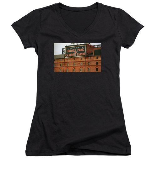 Baltimore Orioles Park At Camden Yards Women's V-Neck (Athletic Fit)