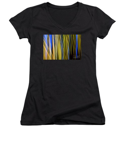 Bamboo Flames Women's V-Neck (Athletic Fit)
