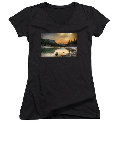 Banff Sunrise Women's V-Neck