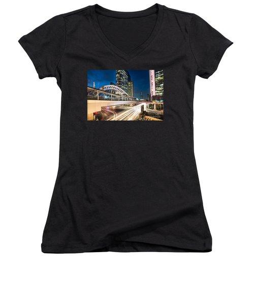 Bangkok Night Rush  Women's V-Neck T-Shirt