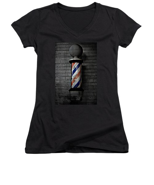 Barber Pole Blues  Women's V-Neck T-Shirt