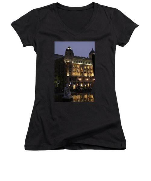 Barcelona Spain Women's V-Neck T-Shirt