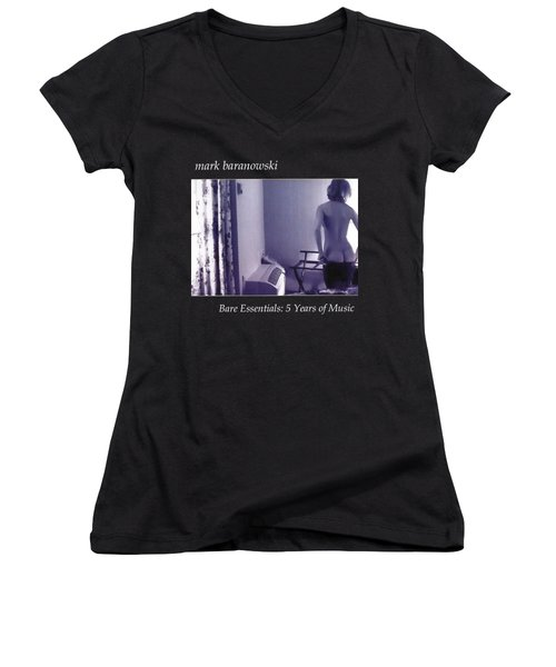 Bare Essentials Women's V-Neck T-Shirt (Junior Cut) by Mark Baranowski
