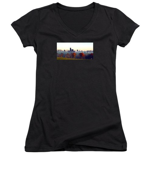 Barn And Silo 3 Women's V-Neck