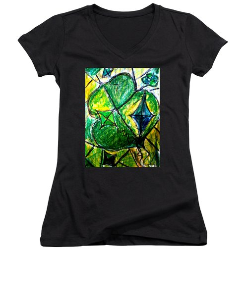 Basant  Women's V-Neck (Athletic Fit)