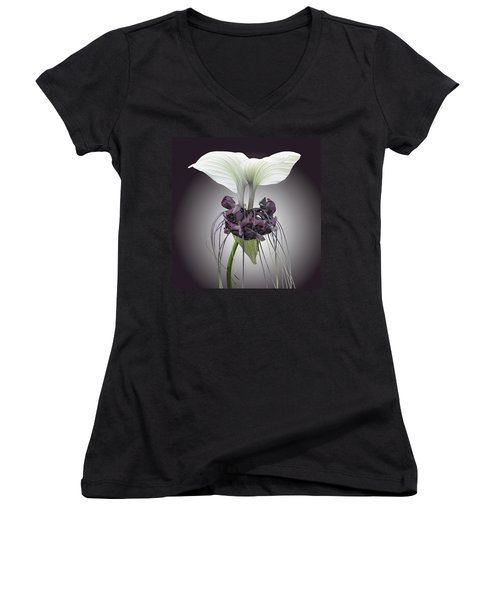 Bat Plant Women's V-Neck (Athletic Fit)