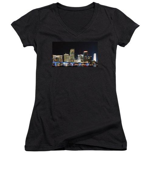 Bay Front Miami Skyline Women's V-Neck