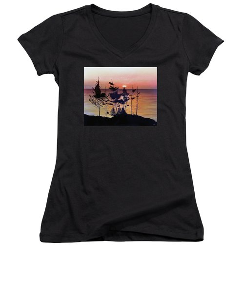 Bay Of Fundy Sunset Women's V-Neck