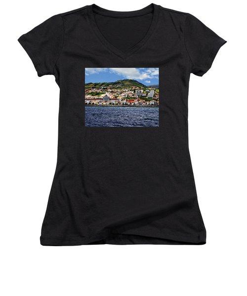 Bay Of Horta Women's V-Neck