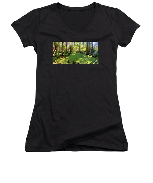 Bayou Country Women's V-Neck T-Shirt