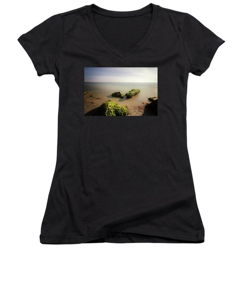 Women's V-Neck T-Shirt (Junior Cut) featuring the photograph Beach by RC Pics