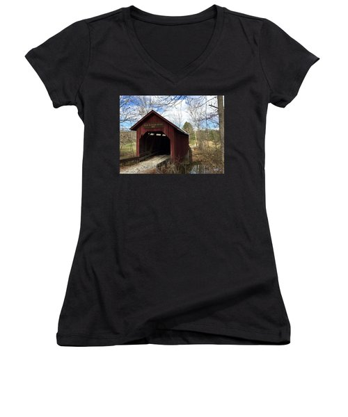Bean Blossom Bridge, 1880 Women's V-Neck (Athletic Fit)