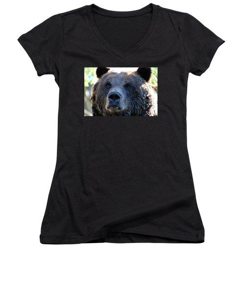 Bear On Grouse Women's V-Neck