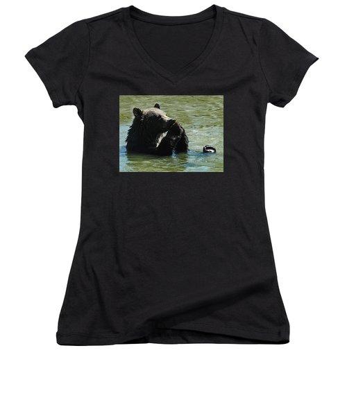 Bear Prayer Women's V-Neck