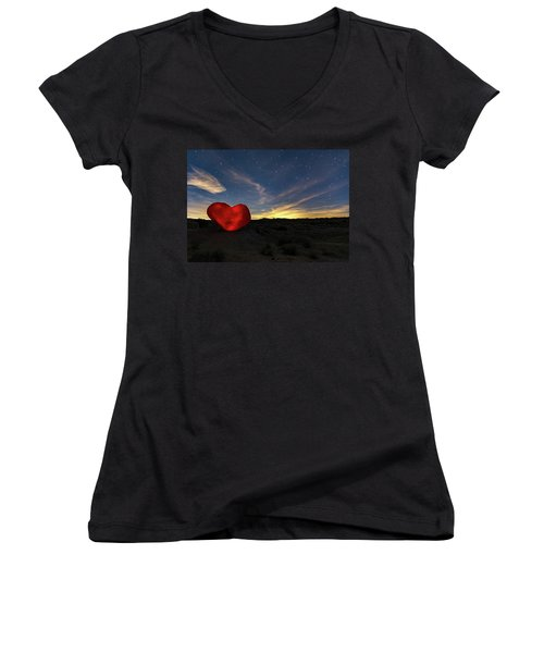 Beating Heart Women's V-Neck