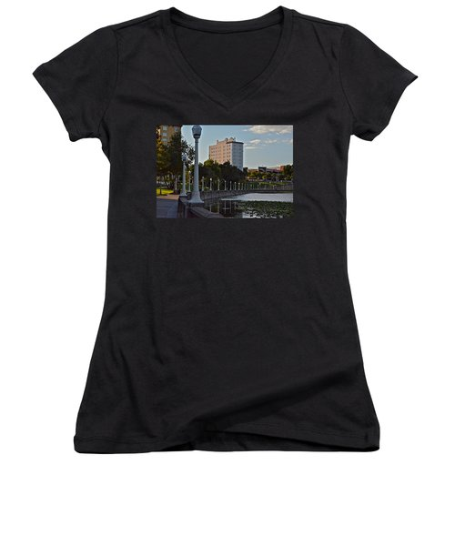Beautiful Downtown Lakeland Women's V-Neck (Athletic Fit)