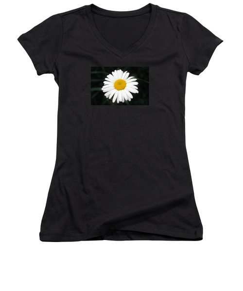 Beautiful Flower Women's V-Neck T-Shirt (Junior Cut) by Milena Ilieva