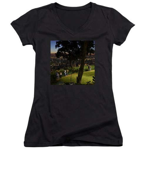Beautiful Location In Bh #vistapoint Women's V-Neck T-Shirt