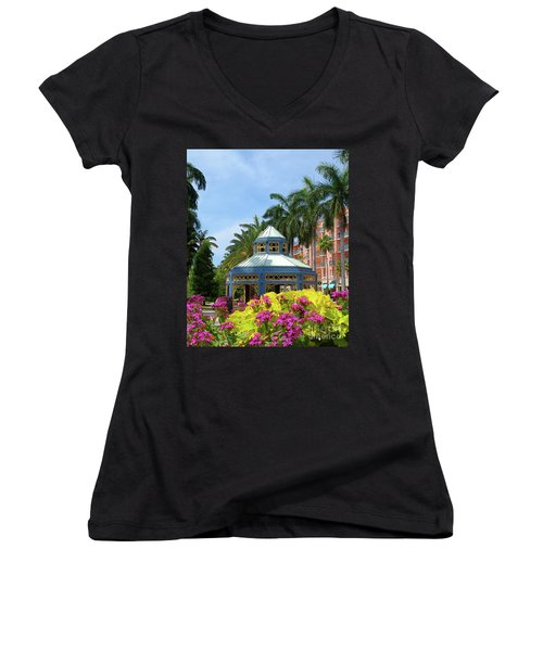 Beautiful Mizner Park In Boca Raton, Florida. #3 Women's V-Neck (Athletic Fit)