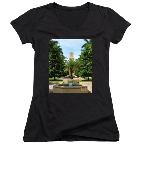 Beautiful Mizner Park In Boca Raton, Florida. #7 Women's V-Neck T-Shirt