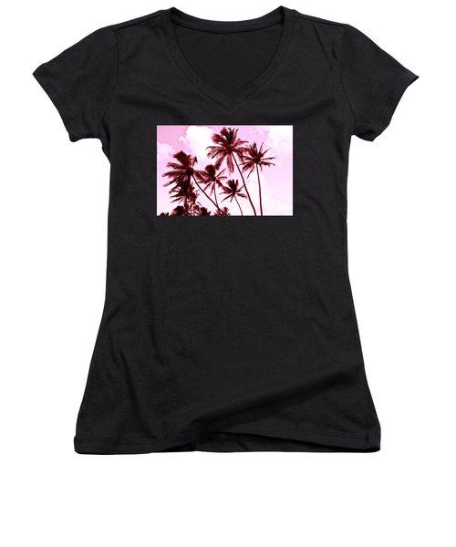 Beautiful Palms Of Maui 13 Women's V-Neck T-Shirt