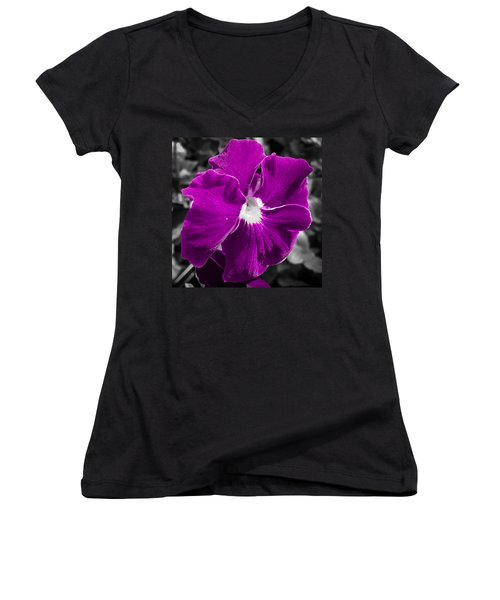 Beautiful Purple Women's V-Neck (Athletic Fit)