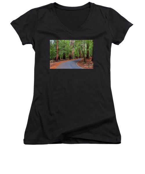 Beautiful Redwood Grove Women's V-Neck (Athletic Fit)