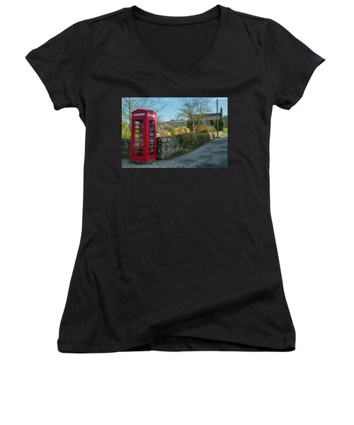 Women's V-Neck T-Shirt featuring the photograph Beautiful Rural Scotland by Jeremy Lavender Photography