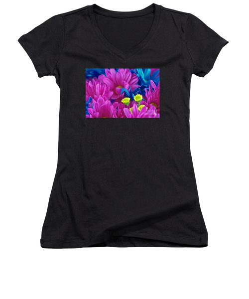 Beauty Among Beauty Women's V-Neck T-Shirt (Junior Cut) by Ray Shrewsberry