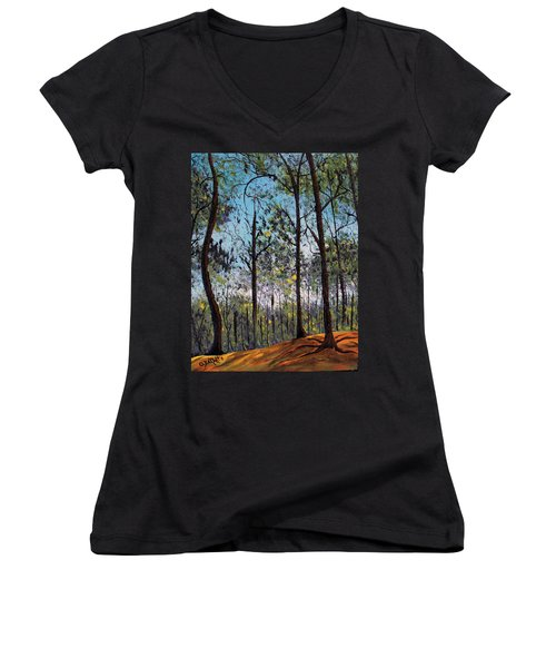 Beauty Around Us 1 Women's V-Neck (Athletic Fit)